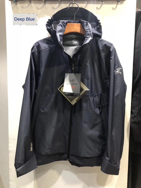 Açık erkekler ceket ceket Gore-tex Paclite su geçirmez yağmur fırtınası geçirmez nem geçirgen rüzgar geçirmez yumuşak erkekler tek yumruk tDQtF