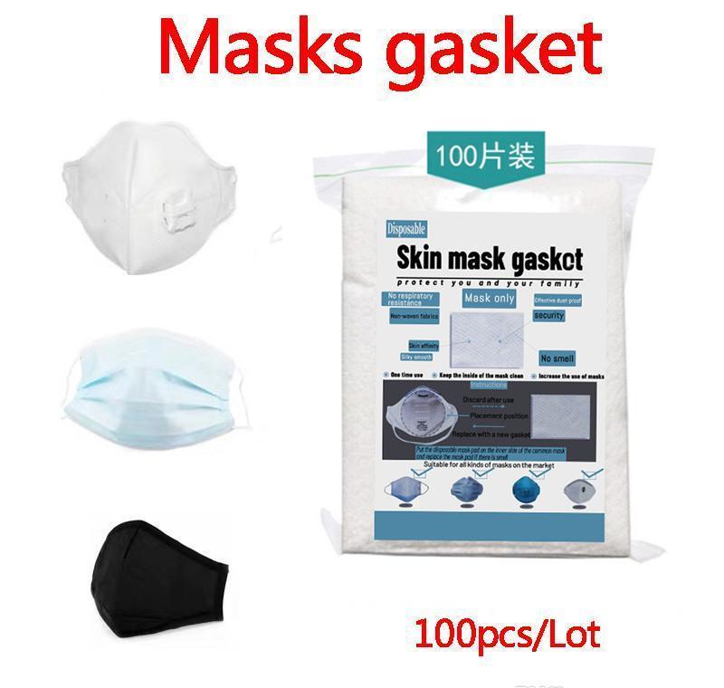 O uso do tempo para a cara 100pcs / Máscaras lote Pad Junta face Retail embalagem do filtro Máscara Extensão descartável inglês Masks hJ2009 CipIQ