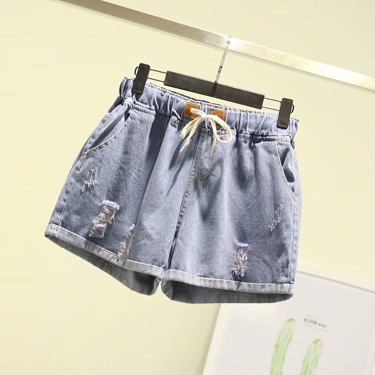 Pralle MM große Größe plus prall Sommer Shorts Hot Pants neuen koreanischen Stil Spitzen-up breite Bein Curling Denim Hot Pants Shorts 5-9 1924