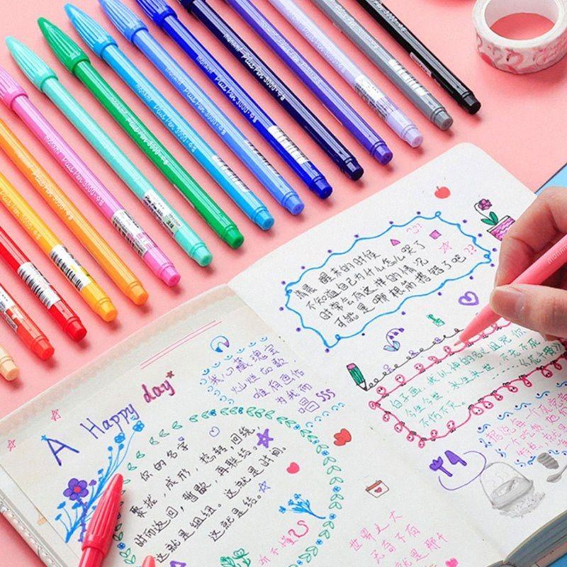 Kroki renk fırça kalem seti okul Malzemeleri boyama Çizim çocuklar için suluboya Sanat Marker gpPR #