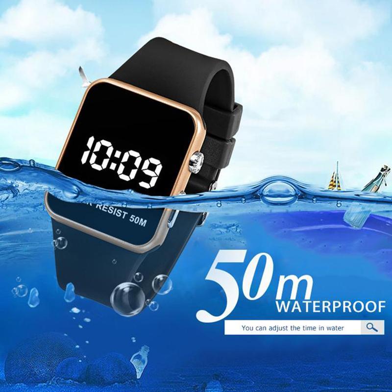 Moda orologi digitali orologio digitale touch screen luxero a led schermo elettronico orologio da polso in silicone orologio