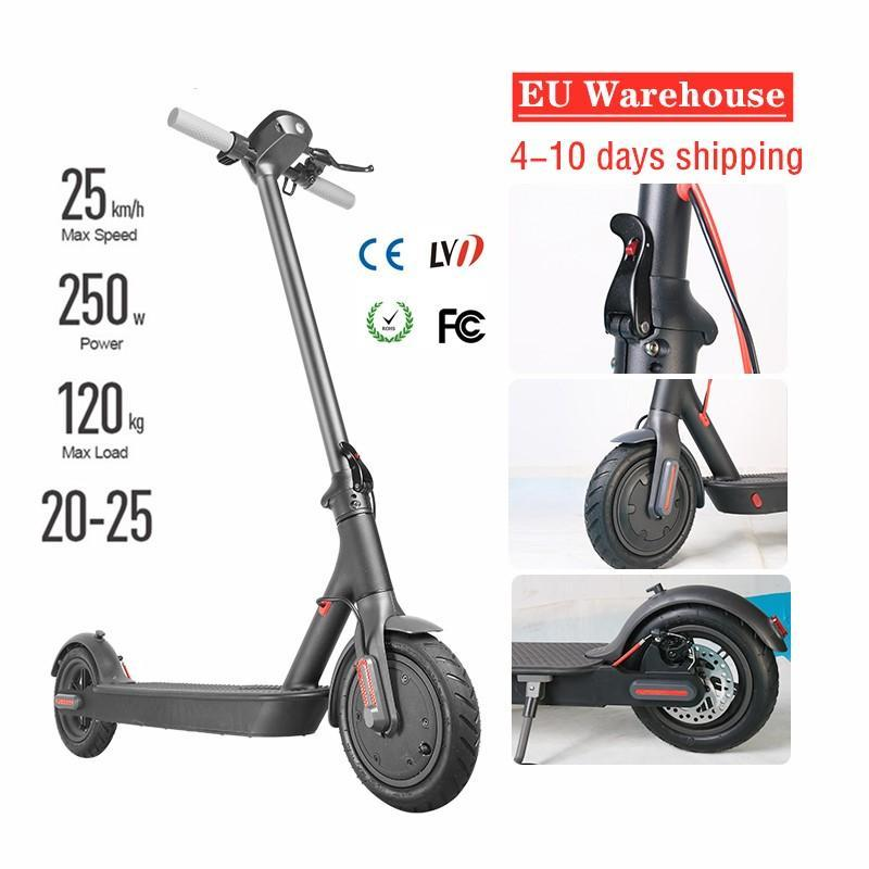 En stock libre de la nave 2020 Nuevo diseño de 8,5 pulgadas eléctrica plegable moto scooter Ciudad E-bicicleta de 25 kmh de largo alcance MK083