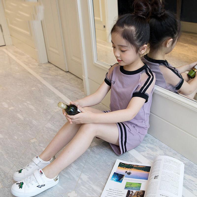 2020 New Verão Vestuário Meninas Define de secagem rápida Terno camisas meninas T e shorts 2Pcs / Set Conjuntos Meninas Sportsuits Crianças Vestuário