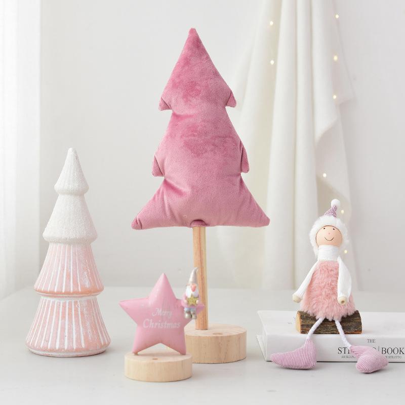 Nordic-Karikatur-Art-Weihnachtsbaum Sterne Spirits Rosa der reizende Mädchen-Raum-Dekoration Ornament Weihnachtsgeschenk Geschenk