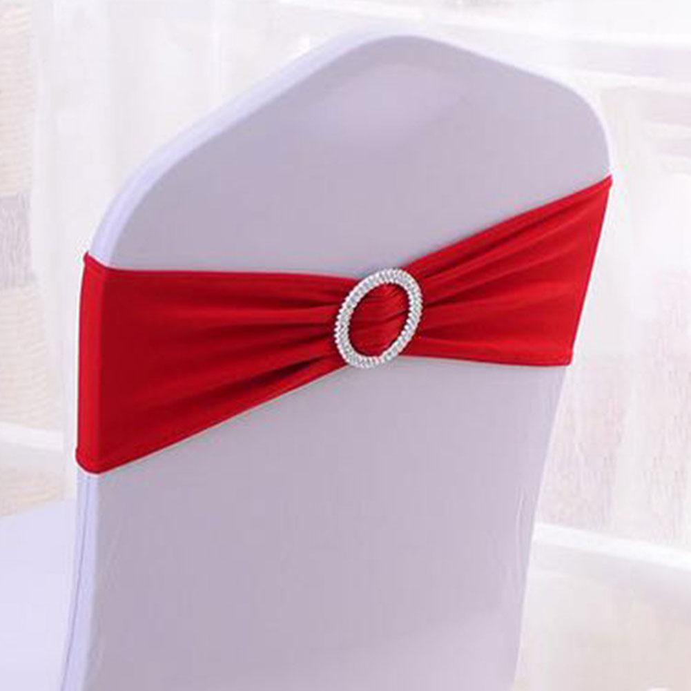 Spandex fauteuil extensible couverture Sash de mariage d'arc boucle curseur Jupettes