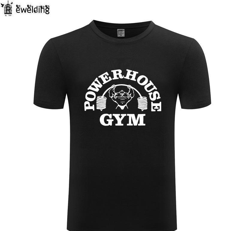 Bodybuilding Printed T shirt Uomo Nuovo Muscle fitness magliette degli uomini divertenti Cotton Short Uomo manica maglietta Streetwear Tee Shirt Homme