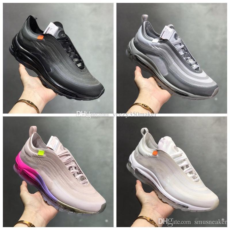 2019 NOVO 10 10X 9 Designer Mens Off OG Bala Serena Williams Homens do arco-íris Womens Running Shoes Almofada Branco Light Gray lobo cinzento