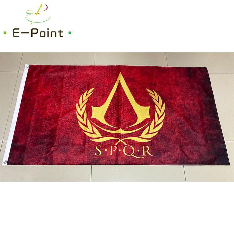 Roma SPQR Bandera 3 * 5 pies (90cm * 150cm) Poliéster indicador de la bandera de volar a casa decoración bandera jardín regalos festivos