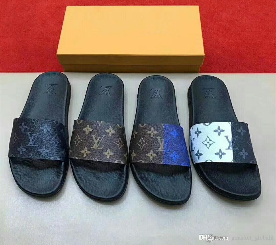Uomo Donna pantofole dei sandali 1A3PSD WATERFRONT MULE scorrevole del cuoio del progettista scorrere gomma piatto Mens con la scatola
