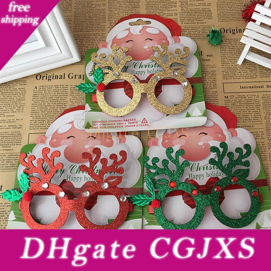 Yaratıcı Noel Baba Sevimli lenssiz Gözlük Çerçevesi Noel Dekorasyon Gözlük Çerçevesi Tatil Blessing Hediye Çocuklar G Oyuncaklar