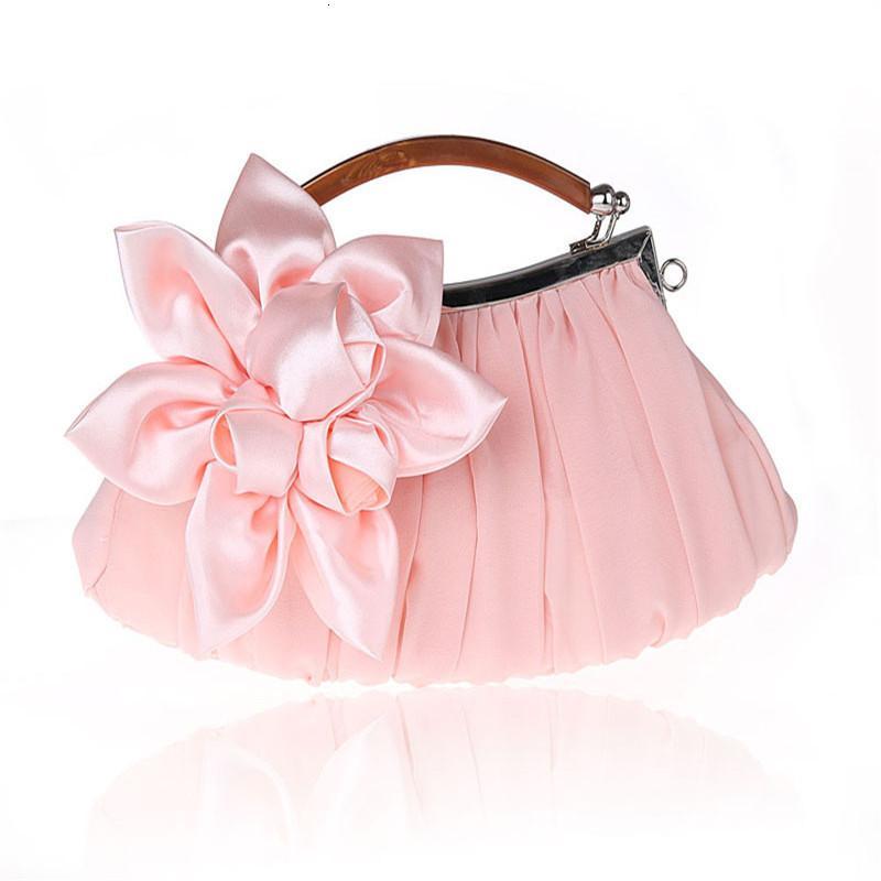 Nuove borse delle donne della borsa della borsa di sera del partito di Bowknot Borsa raso frizione di alta qualità 2020 per la festa di nozze di promenade borsa da donna WY10
