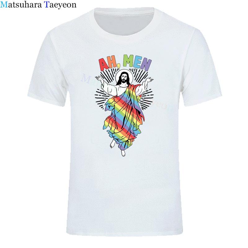 Divertente Gesù moda di Harajuku Felpa maglietta degli uomini Stampa 2020 estivo Top Abbigliamento casual Tuta TShirt dell'uomo