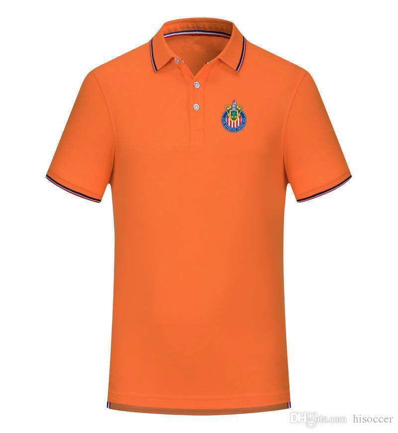 T-shirt do Chivas EUA equipa de futebol New Men Vestuário Golf Polo T-Shirt shirt dos homens de manga curta Polo Basketball T