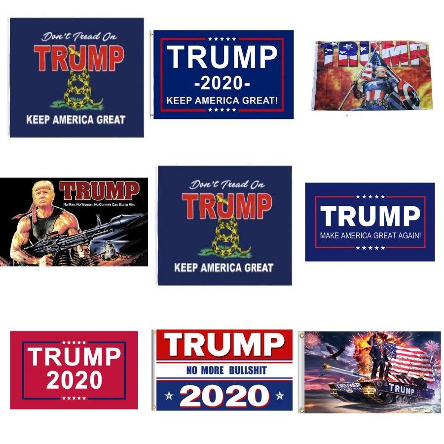 Личность 2020 Флаги 30 * 45см Садовые флаги Дональд Джон Президент Трамп Логотип Anner Ployester Clot Phannant Amercia Costom Campaign A03 # 28 DVGW