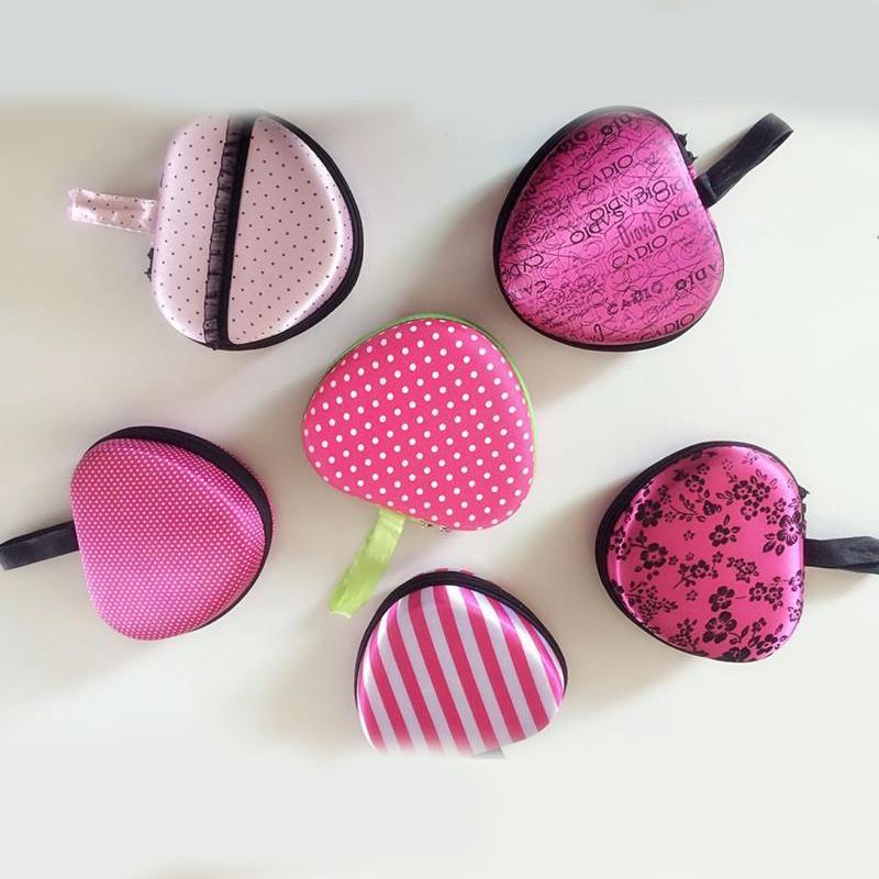 Silicone invisibile biancheria intima sacchetti di immagazzinaggio Shape Mini reggiseno del cuore del sacchetto cassa del fiore banda guscio d'uovo di colore rosa con la chiusura lampo contenitore 5 5pc ZZ