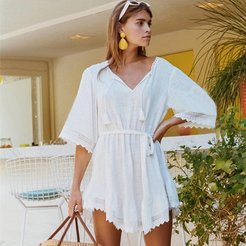 2020 Bathing Suit Beach Cover Ups For Women Teen Girls Plus Size 2020 White Cotton Chiffon Kimono Swimming Suit Swimwear Cover Ups From Pulchritude 18 99 Dhgate Com