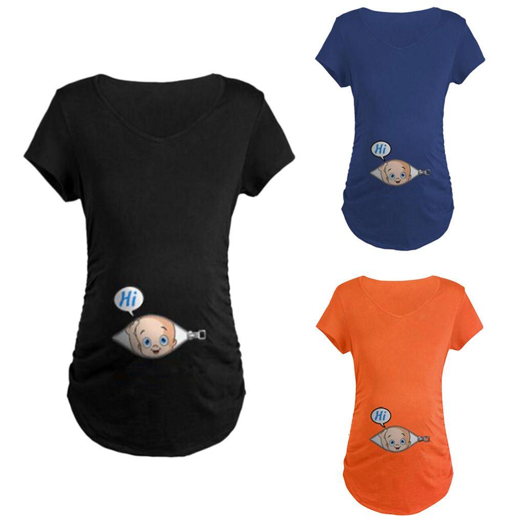 maternity clothes Short Sleeve for pregnant women Breastfeeding Cartoon Print T-shirt Pregnancy Clothes Women Maternity