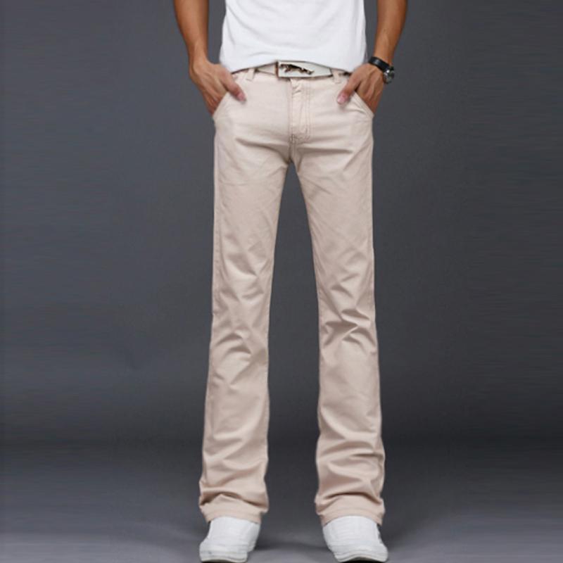 2020 Мода повседневные мужские джинсы клеш Летние Комфортные брюки джинсовые Тенденция Дикие Юношеские джинсы