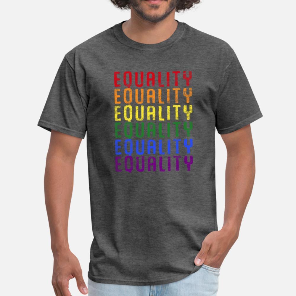 LGBT тенниска мужчины Печать футболочку плюс размер 3XL Unisex Graphic Смешной Spring Outfit рубашки