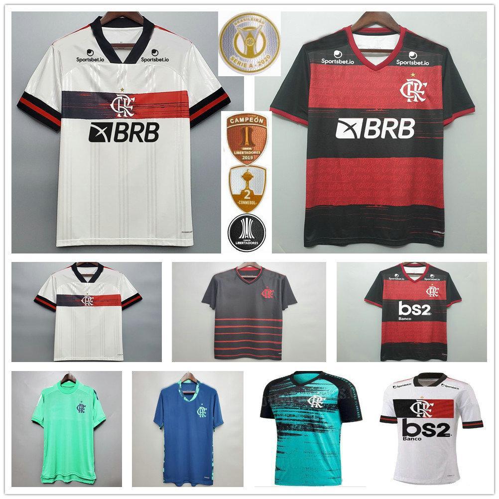 2020 Flamengo لكرة القدم الفانيلة غابرييل ب. جيريرو دييغو B.Henrique دي إريكايتا جيرسون مخصص 20 21 الفلمنكية RJ الرجال امرأة أطفال كرة القدم قميص