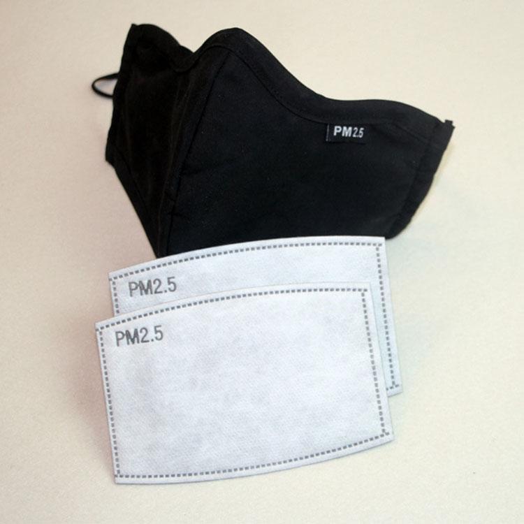 2pcs DHL libero / lot 5 strati filtro a carboni attivi PM2.5 Anti Haze Bocca Maschere filtrante amovibile per Attiva Carbon, indossare una maschera