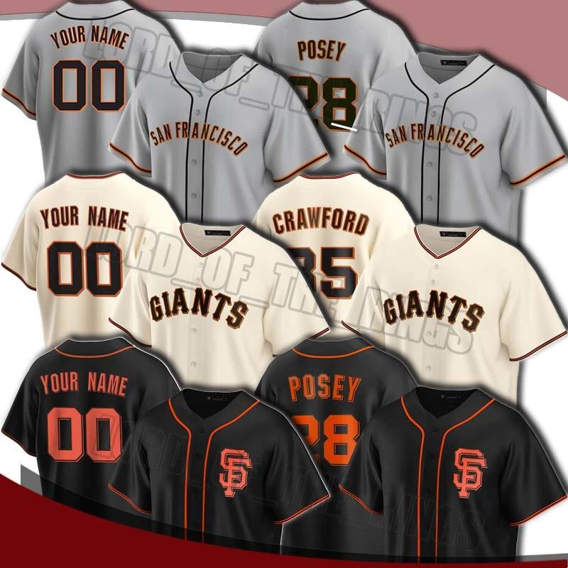Custom Giants 28 Buster Posey Jersey 35 Brandon Crawford Jerseys 40 Madison Bumgarner Johnny Cueto Brandon Belt Alex Dickerson Baseball