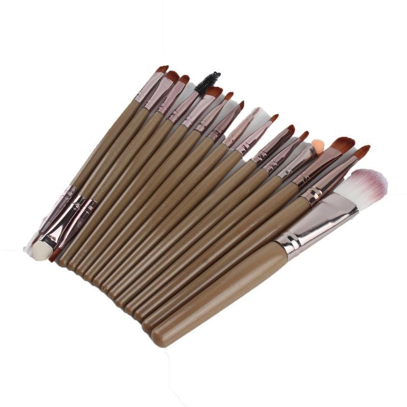 15st / set professionellen Make-up Pinsel Wimpernlippen Foundation Puderlidschatten Brow Eyeliner Kosmetik bilden Bürsten-Schönheits-Werkzeug