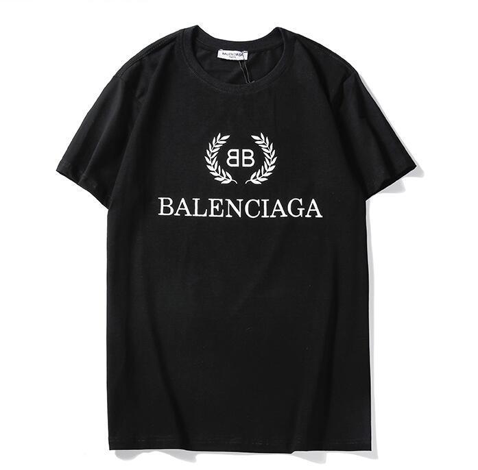 La camiseta de los hombres de las marcas 20SS BB MODO Homme impresa letra de la camiseta de manga corta de las mujeres de los hombres de Hip Hop Street Style Tops T-Q30