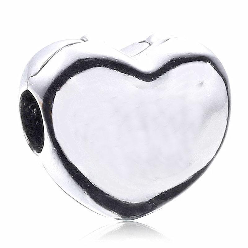 Orijinal Gümüş Aşk Kalp Sabit Klip Kilit tıpa Boncuk Fit 925 Gümüş Boncuk Charm Marka Bilezik Bileklik Diy Takı