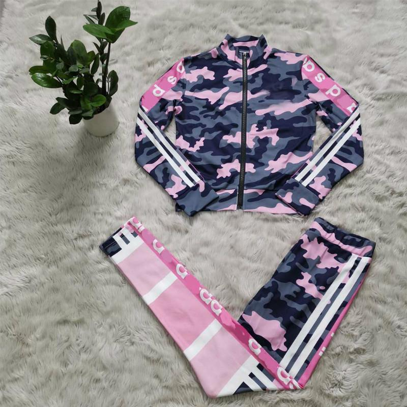 Womens Tracksuits Sport Running Wear 2020 New Arrival Long Sleeve Slim Girl Active Lady Autumn Casual Two Piece Outfits Jackets & Leggings
