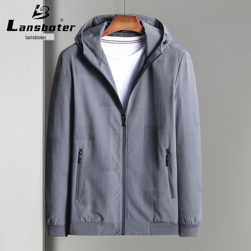chaqueta vBFve Lesibert y delgada chaqueta informal con capucha otoño del nuevo del resorte de Jóvenes de los hombres