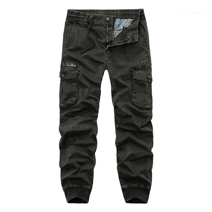 Pancil Hosen Herren Cargohose Stretch Breite Füße lose beiläufige Hosen Männlich Solid Color