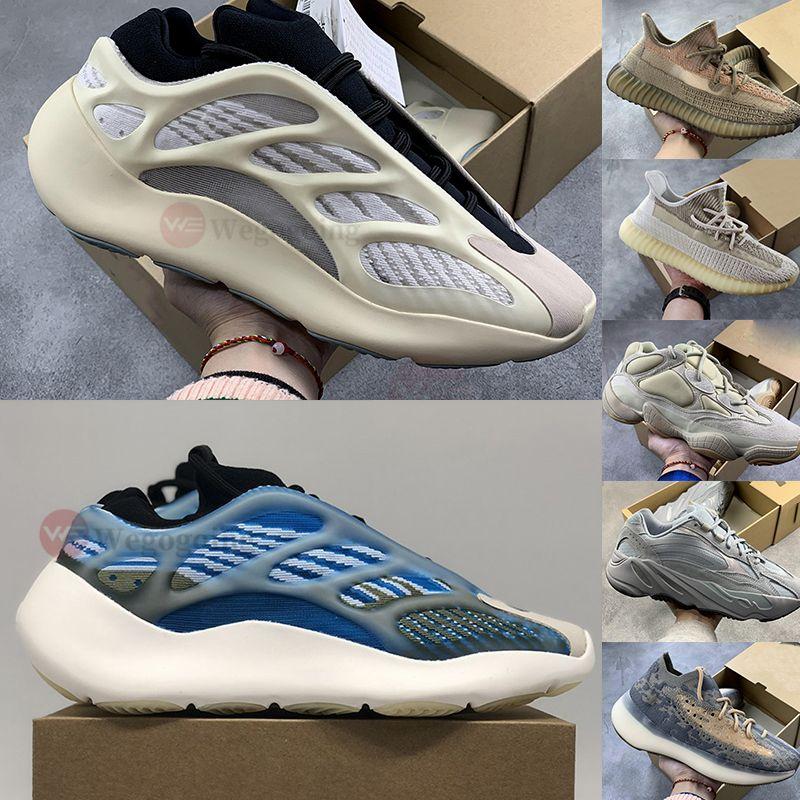 Adidas 2020 Nuova 380 v3 Blu Avena nebbia nera Alien Kanye West Scarpe da corsa 500 Blush Bone 700 Phosphor  Arzareth Alvah Azael Statico corridore dell'onda Sport Sneakers
