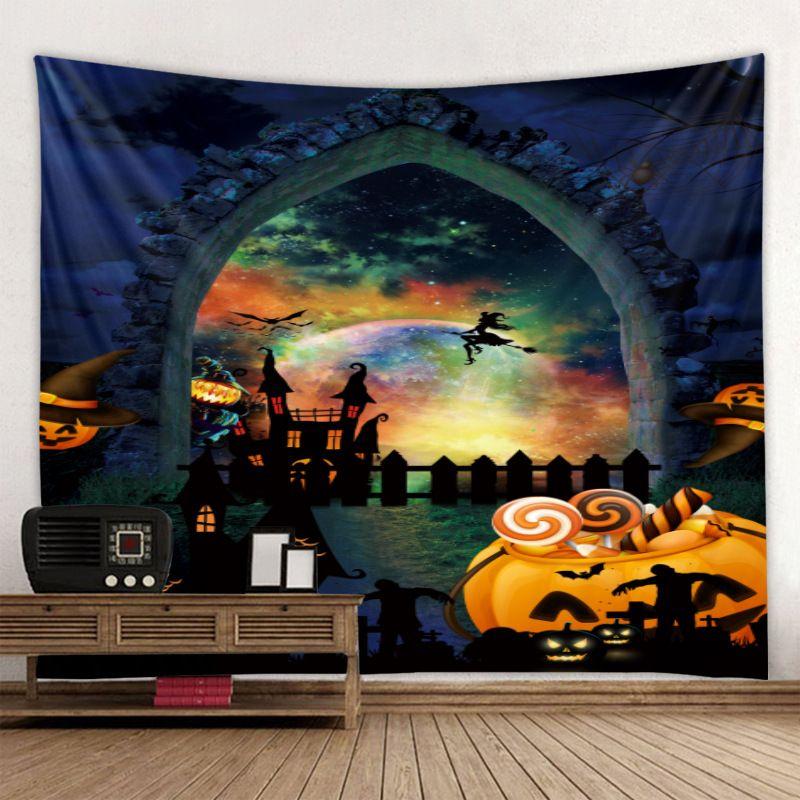 2020 PALMA DE SANGRE DE HALSARIA Halloween Tapicería de la pared Alfombra de halloween Partillo de la pared Tapas de tela para el hogar Halloween DIY Decor