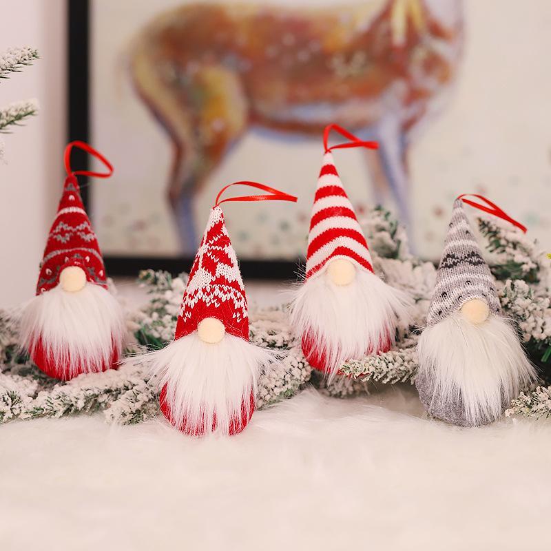 Cartoon Strick Netter Wald Mann Puppe einfache Art-Weihnachtsbaum-Anhänger Mode Persönlichkeit Festliche Partei Home Decoration Supplies