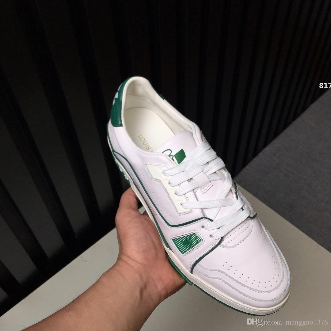 Роскошная 817 2020 Новый люкс Мужская обувь Повседневная кроссовки моды Top Шнуровка дышащий Прохладный Мужская мода Спортивная обувь Размер 38-45