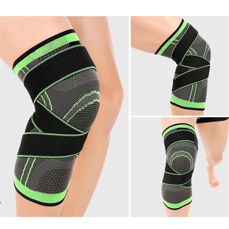 1PCS Kneepad Support Professional-Schutz-Sport-Knie-Pads Breath Bandage Knieorthese Basketball Tennis Radfahren