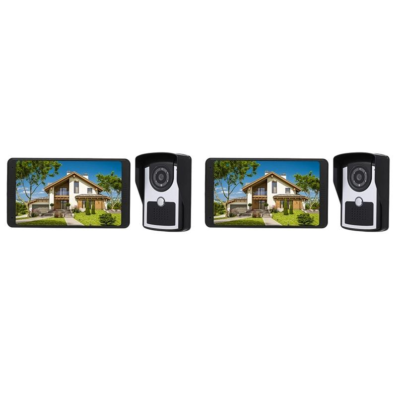 7 inch TFT LCD Wireless WiFi Smart Video Door Phone Intercom System 1000TVL Wired Doorbell Camera