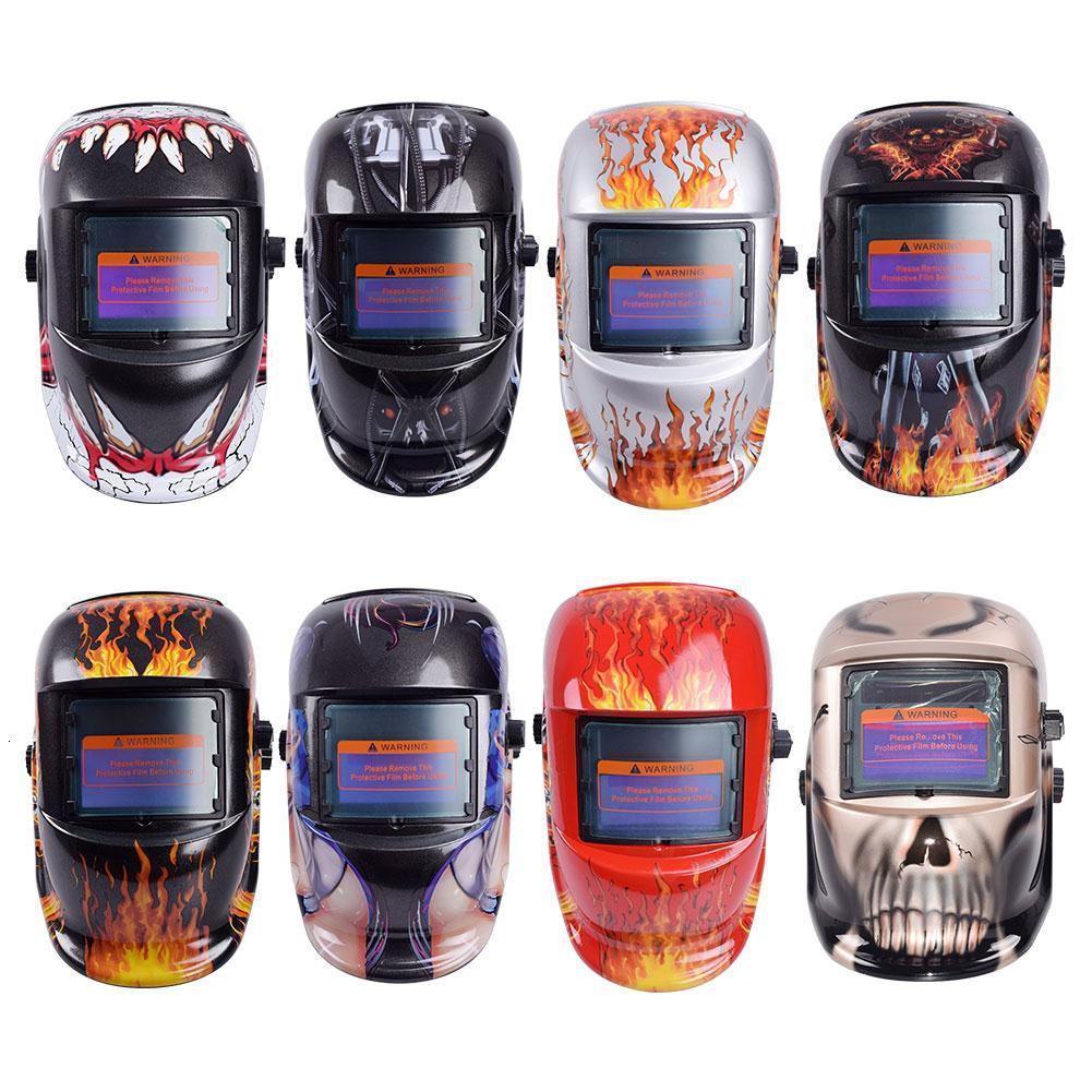 8 estilos Soldadura Casco Auto Oscuridad Oscuridad Soldadura Multifunción Mascarilla protectora de protección UV Protección Lente TIG Cascos