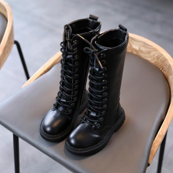 Дети Мартин сапоги Дети Шнуровка Martin обувь Дети High Top Rider Boots 2020 Сплошные цвета Зимняя обувь Горячий продавать для оптовой продажи