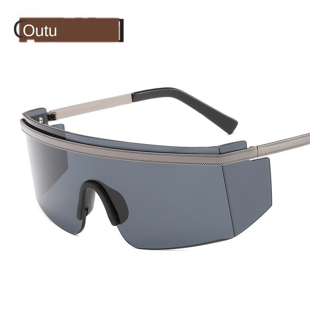 Nuovo sole di modo PC un pezzo antivento ombreggiatura sole occhiali di protezione occhiali da sole sabbia Occhiali da sole Maschere all'aperto 20801 EVQKb