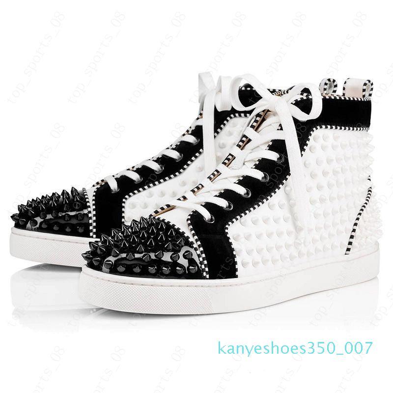 2020 scarpe Red Bottoms Uomini Donne Studded Spikes sneakers piattaforma annata ribattino casuale Genuine Leather dimensione della scarpa da tennis 36-47 K07