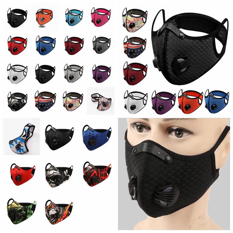 24 stili bicicletta maschera antipolvere Hazeproof traspirante Sun mascherina protettiva esterna unisex di sport per adulti facciali riutilizzabili maschere YYA377