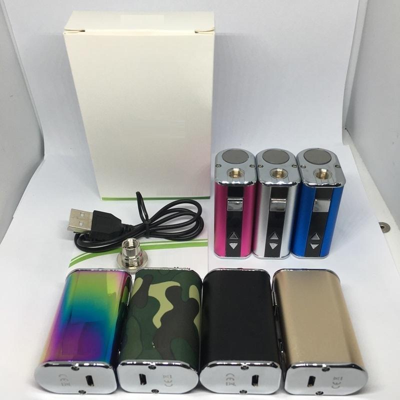 Mini 10W Battery Vape Mod 7 Colors 1050mah Variable Voltage batteries VV Vape Pen with usb Cable & 510 thread battery Simple packing