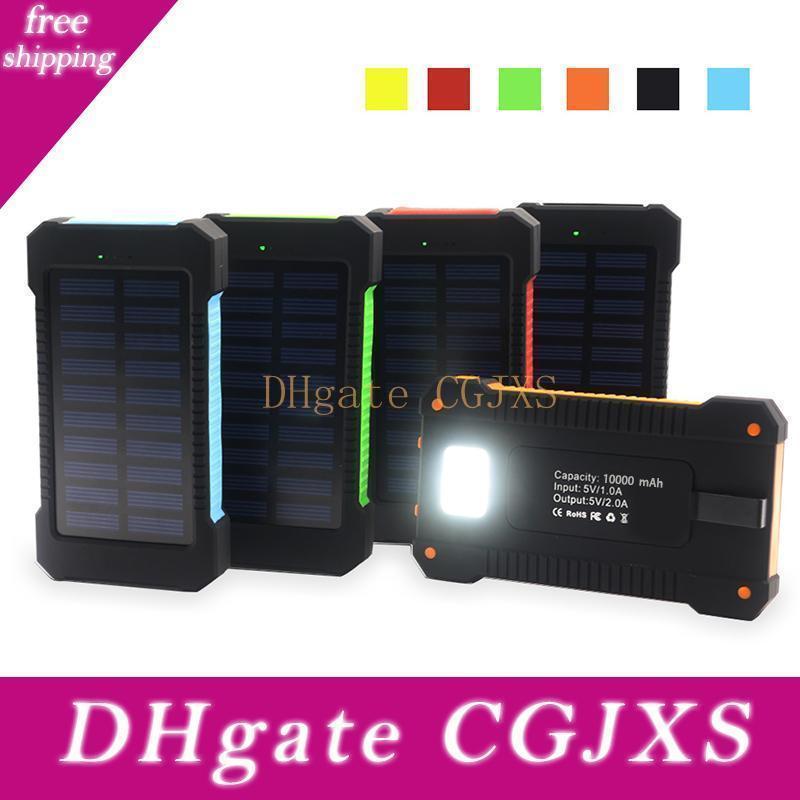 brújula resistente al agua banco de la energía solar 20000mAh cargador de batería universal de cellpPhone con linterna LED y la luz que acampa al aire libre brújula para