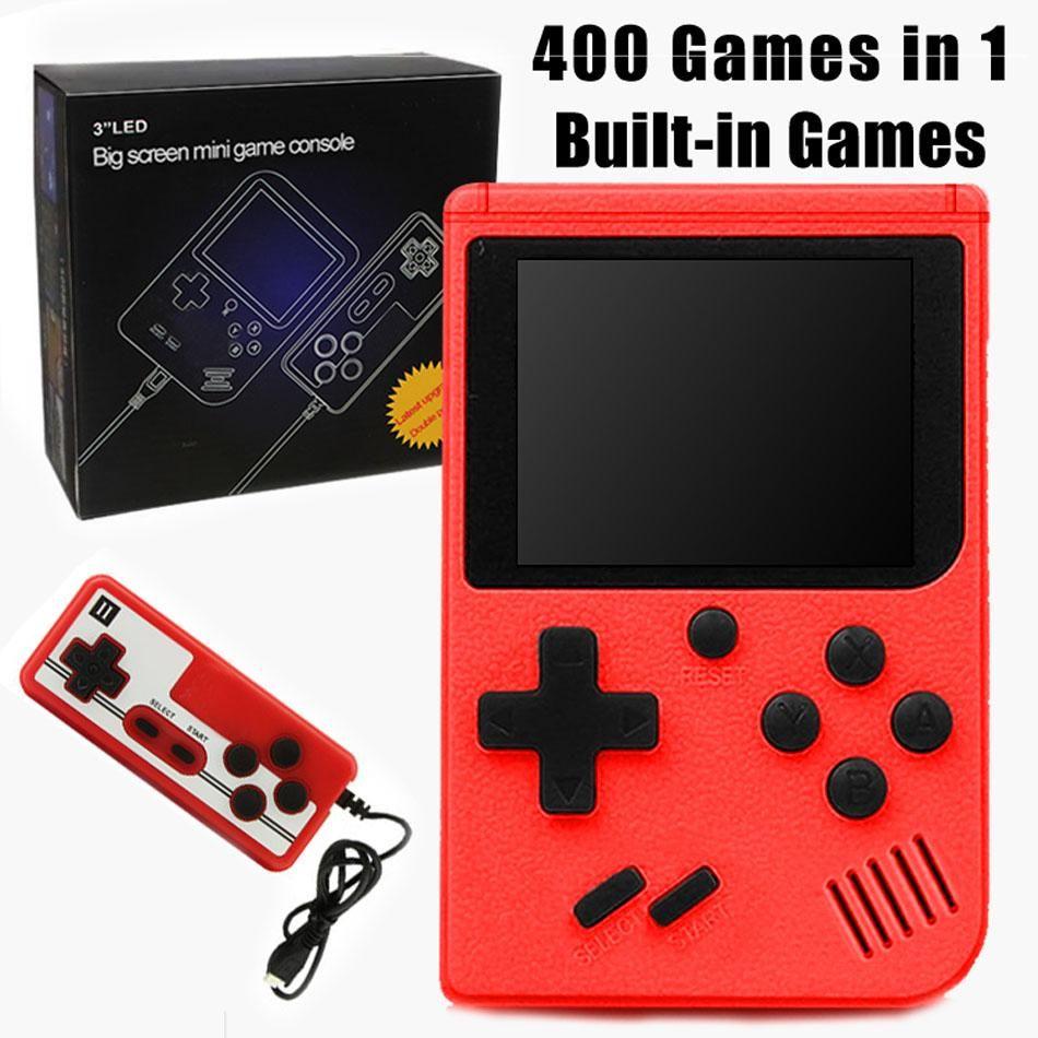 Mini Handheld Game Console Video Game Protatil mini handheld player 8 Bit 400 games 3.0inch gamepad