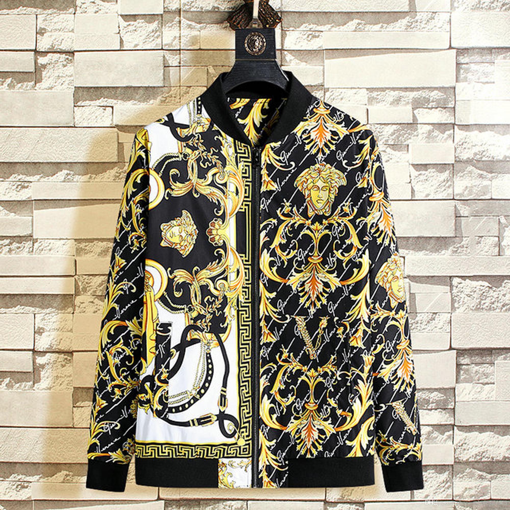 VERSA al por mayor del bordado de los hombres capa de la chaqueta del hombre de Hip Hop de Calle OFF Hombres chaqueta PALM Escudo Bombardero de ropa ÁNGELES zapatos blancos del deslizador 06