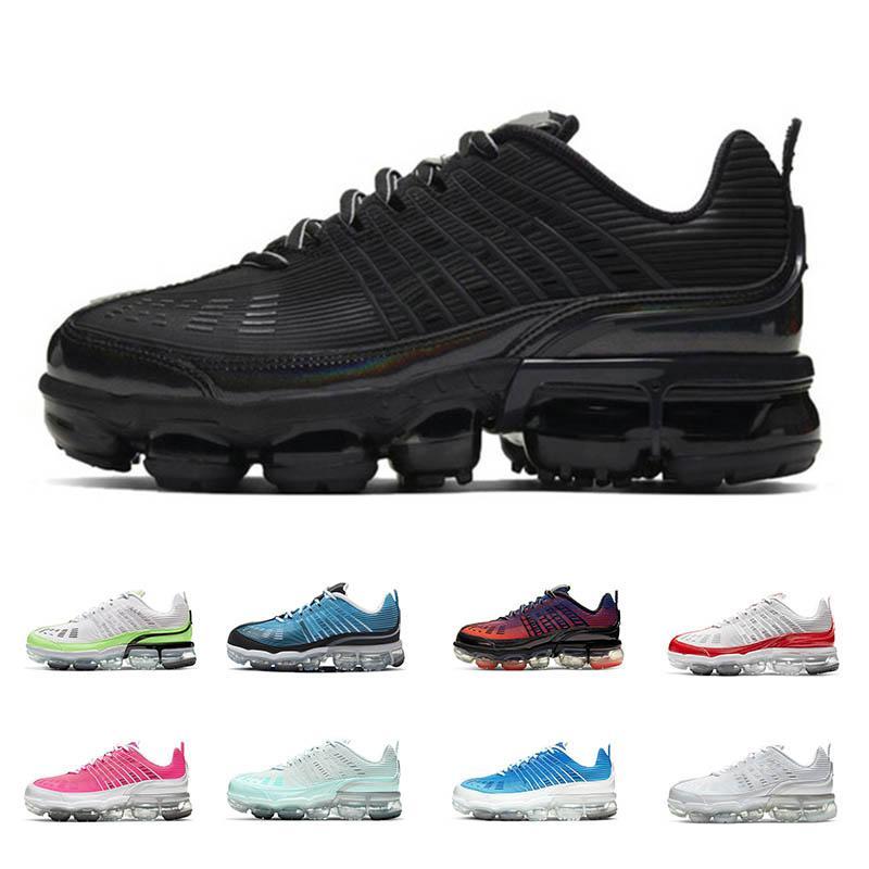Nike Air vapormax 360 erkekler kadınlar ayakkabı Siyah Yanardöner Hayalet Yeşil Hiper Pembe Lazer Mavi Işık Aqua Magic Ember Metalik Gümüş Zirve spor ayakkabı çalışan