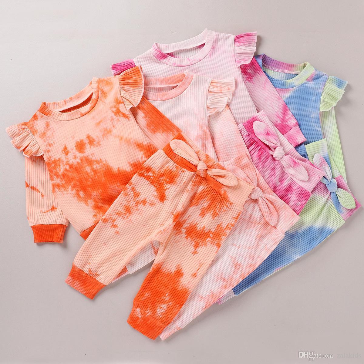Bebek Batik Giyim Butik Kız örgü Dedikodu 2adet Uzun Kollu Üst + Pantolon legging pantolon ayarlar