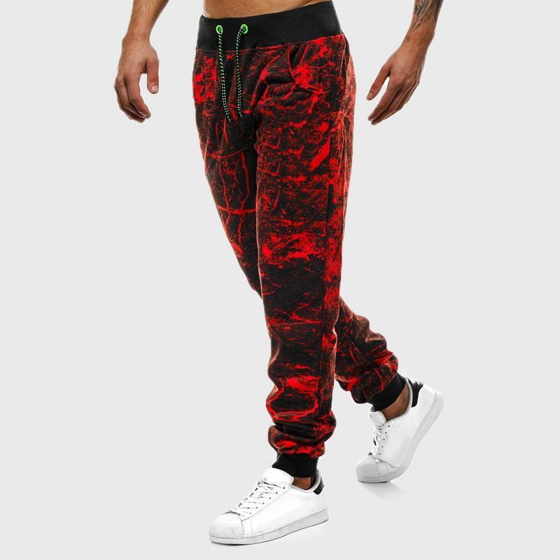 Hip Hop Baskılı Erkek Harem Pantolon Spor Spor Koşucular Sweatpants Yüksek Wiast Sıkı Pantolon Erkek Giyim Eşofman Trackpants